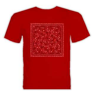 Blood Gang Bandana Style Hip Hop T Shirt