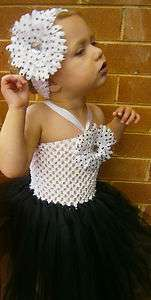 Beautiful Baby Girl Black & White Tutu Dress