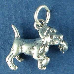 Sterling Silver Hvy 5g Lab Labrador Retriever Dog & Duck Charm