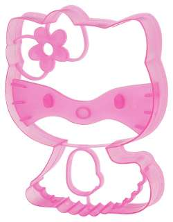SANRIO HELLO KITTY COOKIE CUTTER SITTING BAKING STENCIL SANDWICH