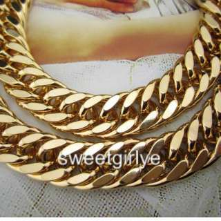 GOLD FILLED MENS NECKLACE 24DOUBLE CURB CHAIN 98g GF JEWELRY