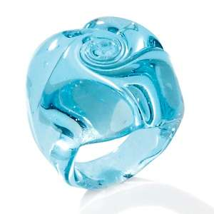 Murano by Manuela Baby Blue Rose Glass Ring