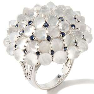 with Carol Brodie Moonstone and Precious Gem Dome Ring