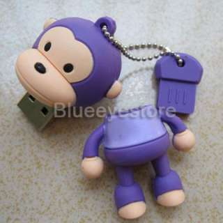 4GB purple monkey USB Flash 2.0 Pen Drive Memory Stick
