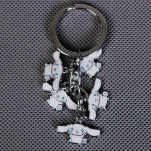 Cinnamoroll Metal Keychain Key Ring Chain White