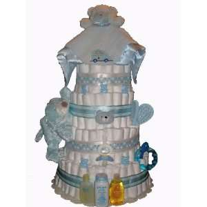 5 Tier Blue Boy Diaper Cake