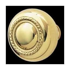 Cabinet Knobs, Bright Solid Brass Roped Cabinet Knob