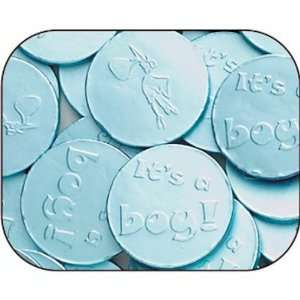 Blue Baby Boy Milk Chocolate Coins 1LB Grocery & Gourmet Food