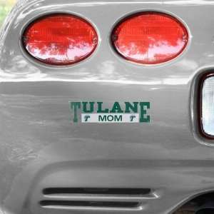 NCAA Tulane Green Wave Mom Car Decal