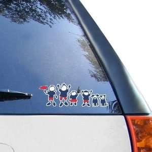 NCAA Louisiana Tech Bulldogs 12 x 12 Family Car Decal