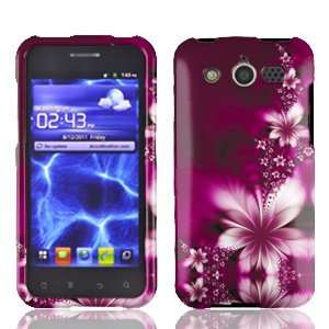 com Huawei Mercury M886 M 886 / Glory Rose Red Floral Flowers Design