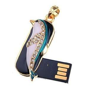 USB Flash Memory Drive Dolphin Jewel Decoration U Disk Christmas