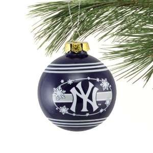 New York Yankees Navy Blue 2010 Glass Ball Ornament