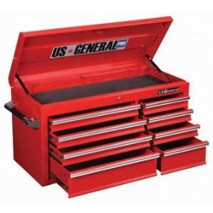 US General Pro Red Roller Cabinet Top Chest