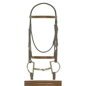 Bridle with Laced Reins Chestnut, Horse