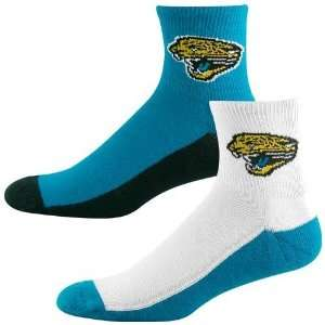 Jacksonville Jaguars Tri Color Two Pack Quarter Socks