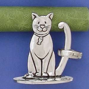Pewter Cat Ring Holder
