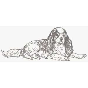 Dog Rubber Stamp   Cavalier King Charles   1E Office
