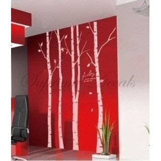 Sale  Set of 4 big birch trees    8 feet 6 inch    Wall Art Home