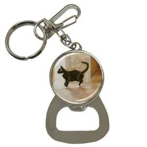 Limited Edition Violano Bottle Opener Keychain Cat Black & White