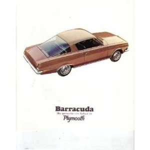 1965 PLYMOUTH BARRACUDA Sales Brochure Literature Book