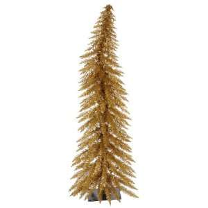 30 Pre Lit Antique Gold Whimsical Christmas Tree
