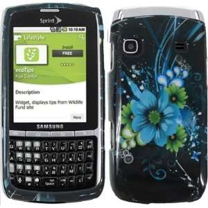 For Sprint Samsung Replenish M580 Accessory   Blue Lily