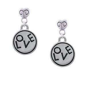 in Round Disc   Silver Plated Mini Heart Charm Earrings [Jewelry