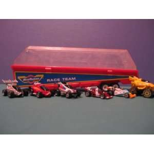 MICRO MACHINES COLLECTORS RACE CAR TRAILER/6 CARS