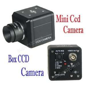 cctv mini ccd color box camera lens/power security