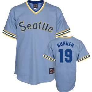 Jay Buhner Light Blue Majestic Cooperstown Throwback