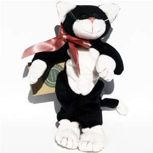 Black and White Cat   Boyds Bears Baby Beanie Plush Toys & Games