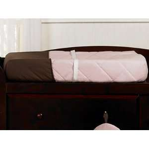 Hotel Pink and Brown Changing Pad Cover