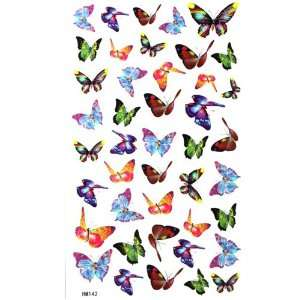 King Horse Small butterfly tattoo stickers waterproof sexy
