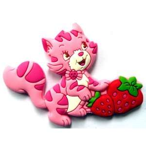 Custard the Cat in Strawberry Shortcake Fridge Magnet ~ Refrigerator
