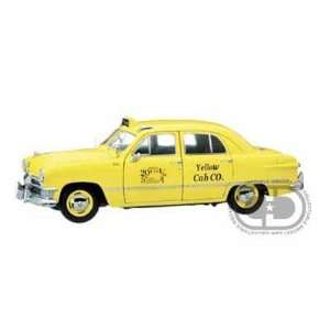 1950 Ford Yellow Cab Taxi 4 Door Sedan 1/18 Toys & Games