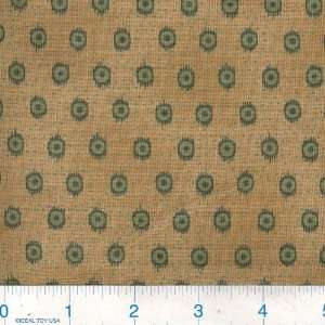 45 Wide Rambling Rose Dots Green Fabric By The Yard