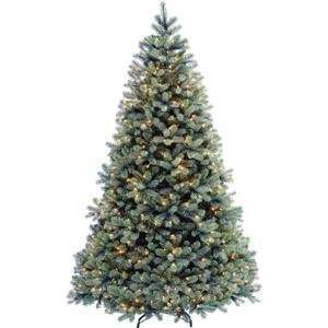 Pre Lit Feel Real Blue Fir Artificial Christmas Tree