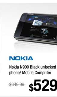 Nokia N900 Black unlocked 3G GSM smart phone/ Mobile Computer