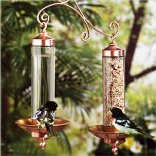 Perky Pet 389 Copper Sip and Seed Wild Bird Feeder Patio