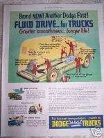 1950 DODGE Job Rated TRUCKS with Fluid Drive car ad