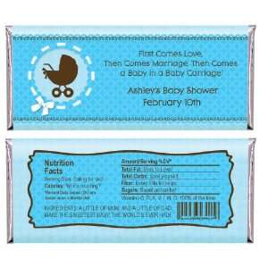 Boy Baby Carriage   Personalized Candy Bar Wrapper Baby