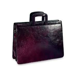 Collection Double Gusset Top Zip Leather Briefcase