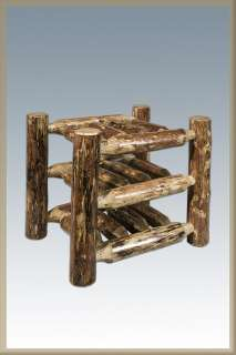 Table Top Log Wine Rack