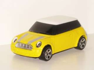 Majorette New Mini Cooper BMW AG Yellow White Roof Rare Model Toy Car