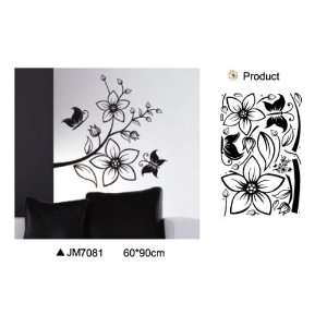 Reusable/removable Decoration Wall Sticker Decal   Black