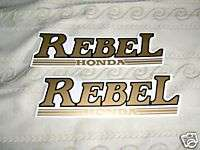 Honda Rebel Gas Tank Emblem Decals Stick Sticker Label